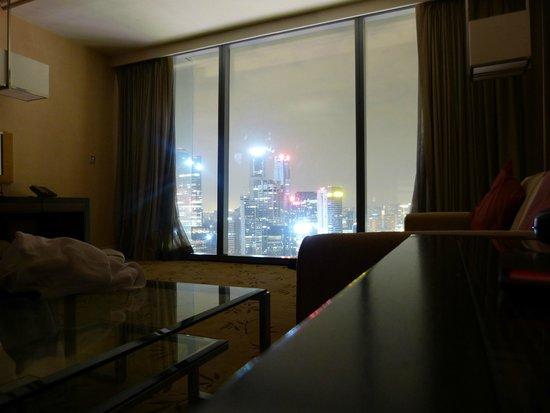Marina Bay Sands: Blick aus dem Bett