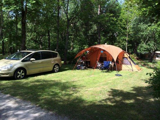 Camping Sandaya le Domaine du Verdon : The pitch 1