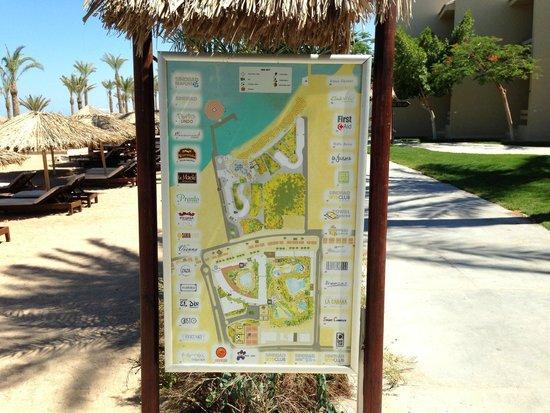 Sindbad Aqua Hotel & Spa: Карта трёх отелей