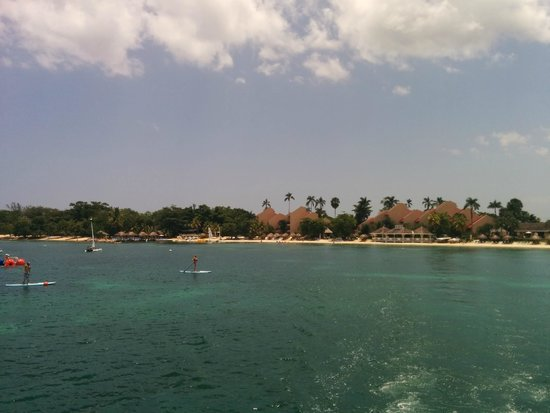 Sandals Negril Beach Resort & Spa: View from the dive boat