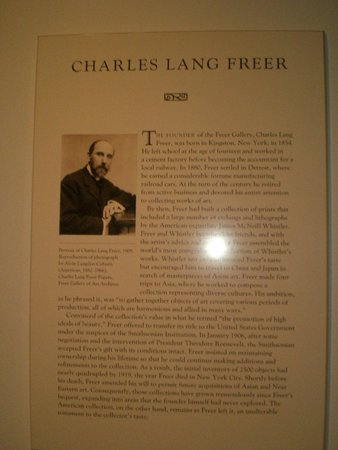 Smithsonian Institution Freer Gallery of Art and Arthur M. Sackler Gallery: Founder of the Freer Gallery