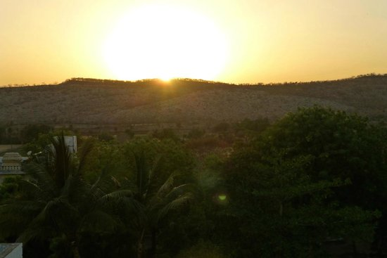 Castle Bijaipur : Sunset from the roof terrace