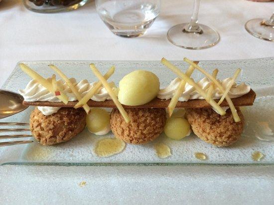 Restaurant l'Auberge : Le Paris Brest revisité façon Breizh. À tomber!!!!