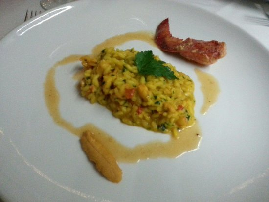 Tanino: 5th course - rissotto with lobster - this was really delicious