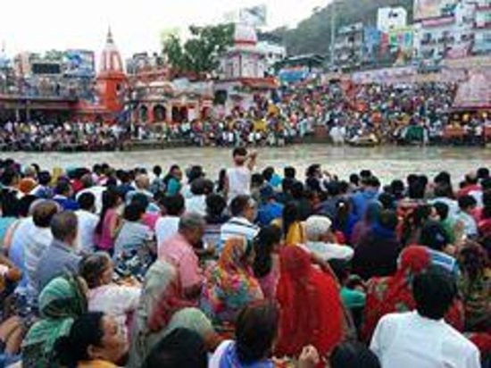 Ganga Aarti at Haridwar: People amass for the aarti