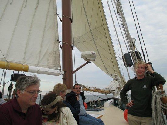 Schooner Appledore IV BaySail : On the Appledore on Saginaw Bay