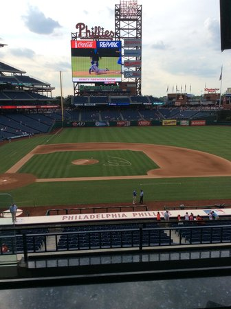 Citizens Bank Park: Pregame view of field from suite level