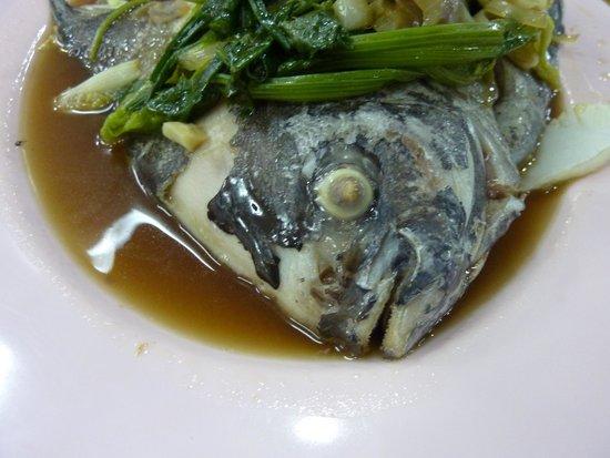 Mit Samui Restaurant: Steamed snapper