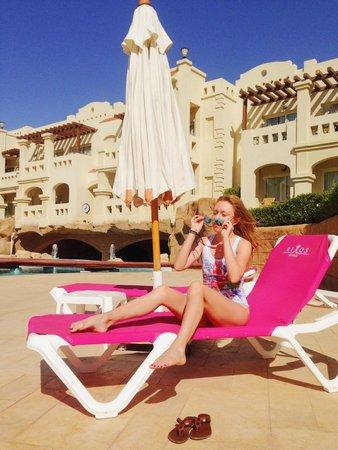 Rixos Sharm El Sheikh : At a quiter swimming pool.
