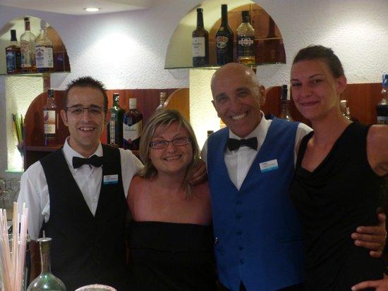 Hotel Cala Ferrera : avec lois et jesus