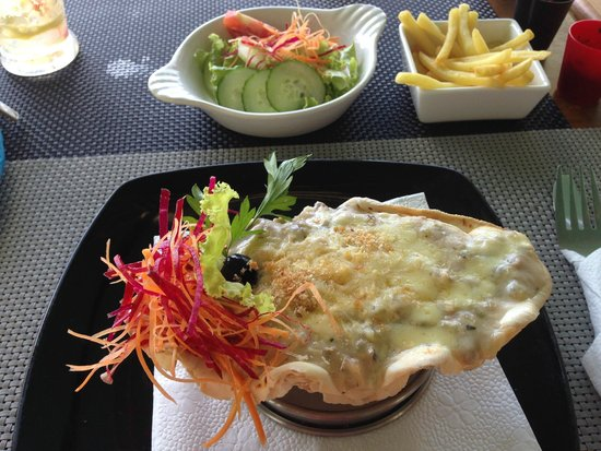 Blue Lagoon Cafe: Gratin de fruits de mer