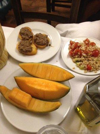 Restaurante Il Latini : Excellent melon and pate