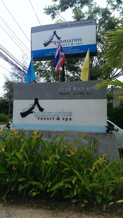 Krabi Aquamarine Resort & Spa: Signage that welcomes you