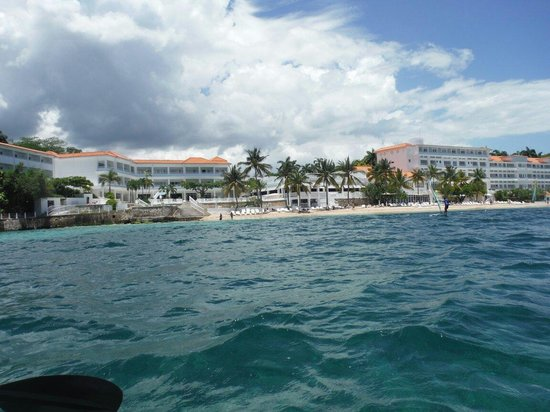 Couples Tower Isle: A shot of the resort while Kayaking.