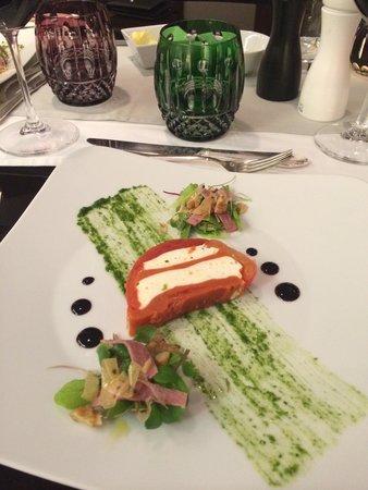 Le Pre Catelan: Uma das entradas do menu degustação...