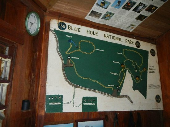 Blue Hole National Park: A map of the topography