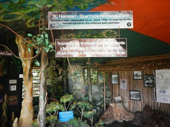 Blue Hole National Park: exhibit for the Blue Hole