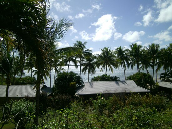 Wananavu Beach Resort: View from my bure front porch