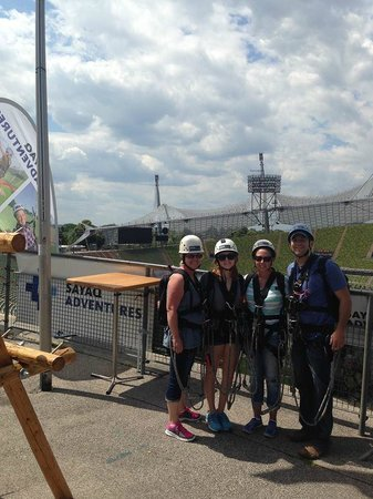 Flying Fox : Our group post jump