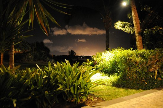 The Oberoi, Mauritius: View from the terrace at night