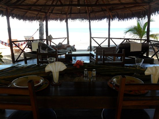 Doany Beach : The pagoda area for meals and relaxing - best view imaginable