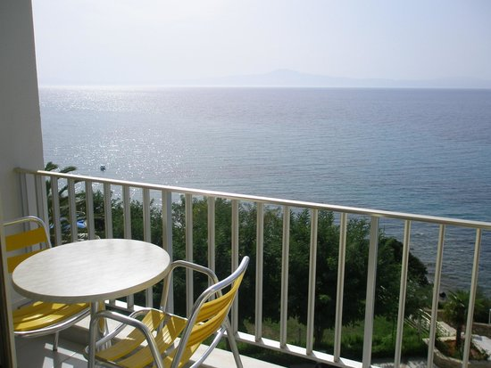Messinian Bay Hotel: view from the balcony
