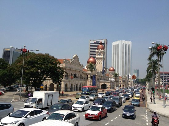 Merdeka Square : The busy city square