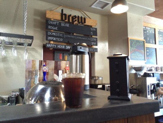 Bru Coffeehouse: Stumptown cold brew coffee. Delicious as always.