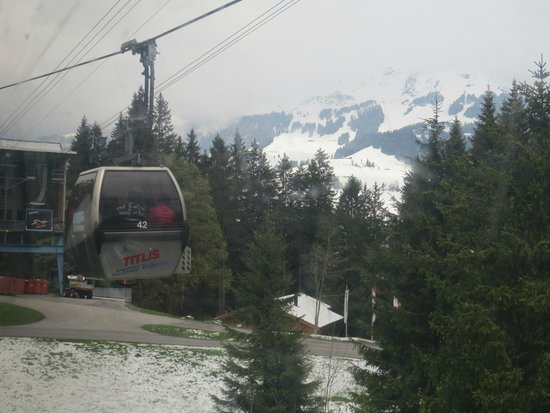 Mount Titlis: the cable car