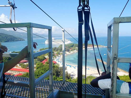 Dragons Breath Zipline: The view from the top