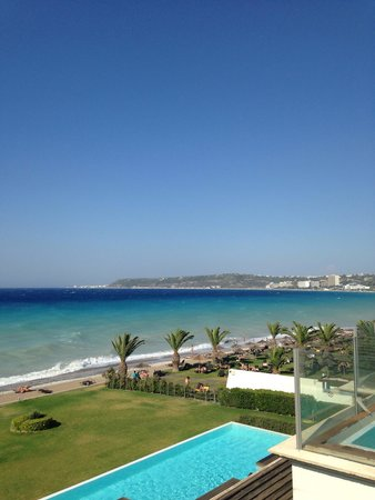 Sentido Ixian All Suites : The city of Rhodes seen in the horizon
