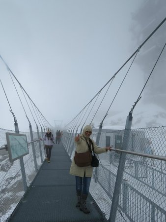Mount Titlis: at the cliff walk