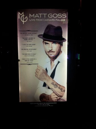 Matt Goss: In Caesars Palace casino area