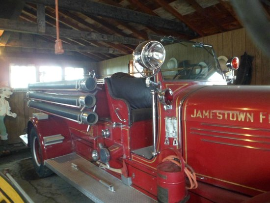 Frontier Village: an old fire engine