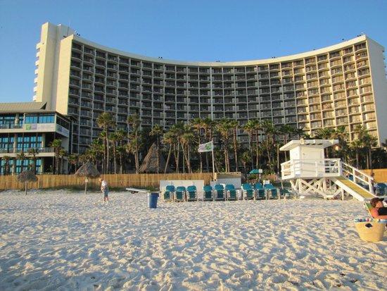 Holiday Inn Resort Panama City Beach : view  looking from beach to resort