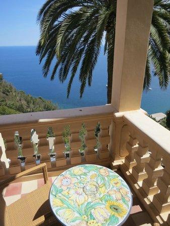 Hotel Villa Schuler: Corner terrace of room #16 (which also has a balcony)
