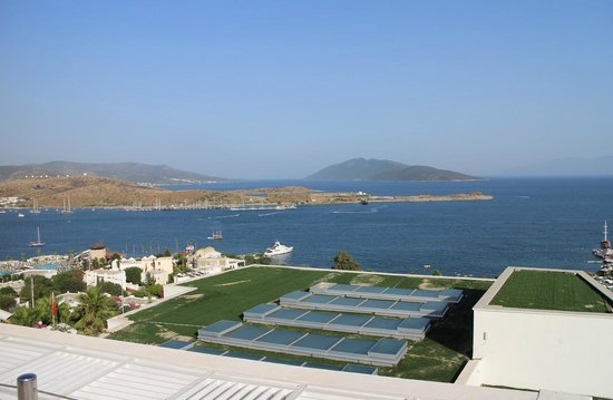 Doria Hotel Bodrum: Blick vom Hotel auf die Bucht