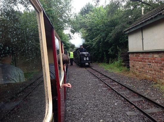 Cleethorpes Coast Light Railway: trains passing