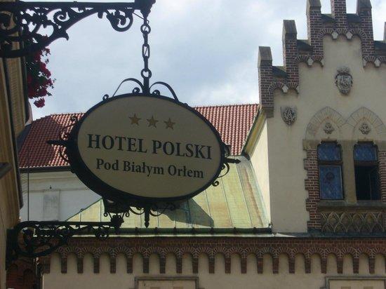 Hotel Polski Pod Bialym Orlem: La Entrada al Hotel