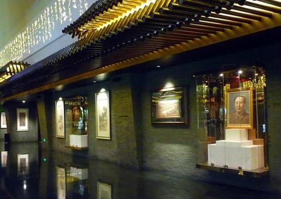 Jumeirah Himalayas Hotel Shanghai : Detalhe do belo lobby