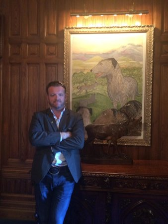Ashford Castle: The Irish Wolfhound art adorning the walls