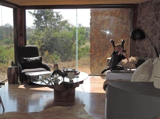 Singita Boulders Lodge : our living room