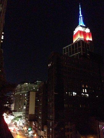Kimpton Hotel Eventi : View from veranda at night