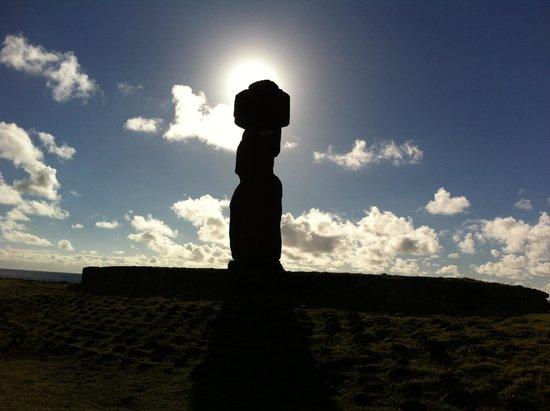 Easter Island Eco Lodge: Atardecer.