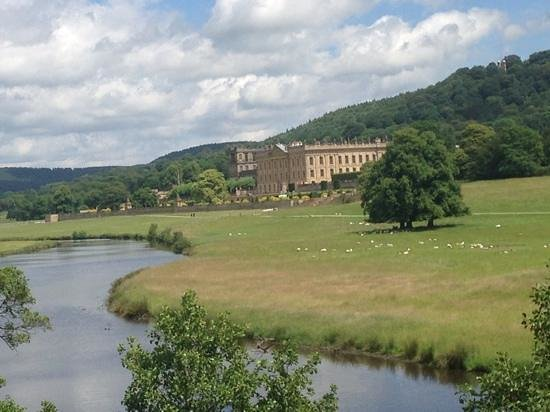 Chatsworth House: Walking along the banks of the Derwent.  Another idyllic picnic venue.