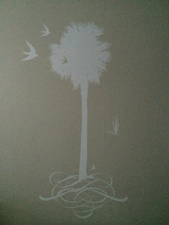 Andaz West Hollywood: graphic on hotel room wall