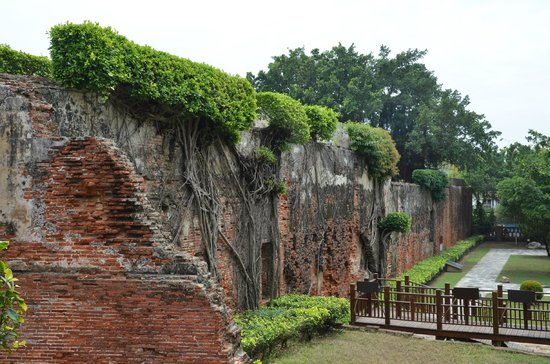 Anping Fort (Anping gubao): the remaining blocks of the original structure
