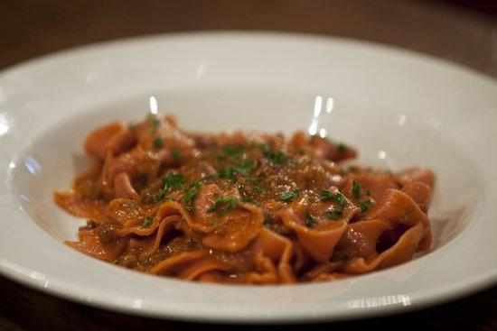 IL VICOLETTO: A closer view of our signature dish , Ragu with pappardelle in Chianti Classico