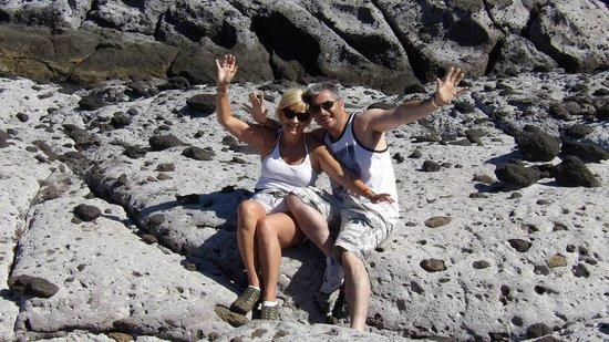 ClubHotel Riu Buena Vista: on the lava rocks below hotel...