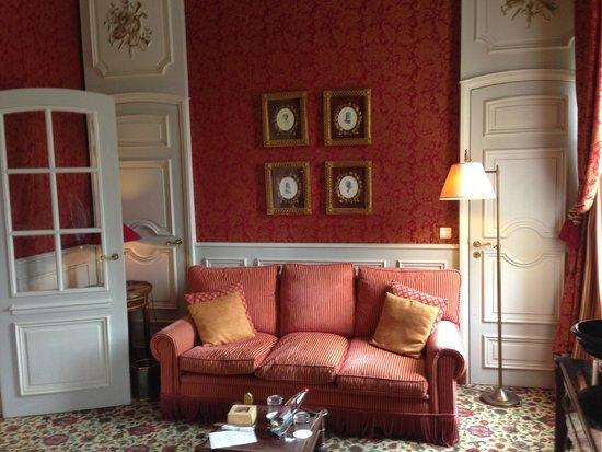 Château de Courcelles: Le coin salon
